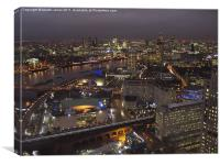 London Night Time Cityscape, Canvas Print