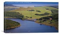 Ladybower and Ashopton Viaduct from Bamford Edge, Canvas Print