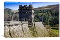 The Derwent Dam, Canvas Print