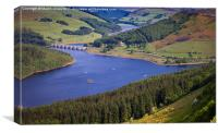 Ladybower and Ashopton Viaduct from Bamford Edge, Canvas Print