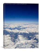 Southern Alps from 38000 feet, Canvas Print