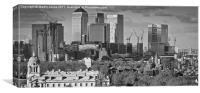 Canary Wharf from Greenwich, Canvas Print