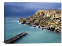 Cliffs in Malta, Canvas Print