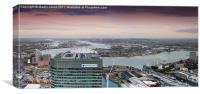 Canary Wharf Eastward, Canvas Print