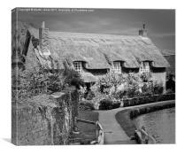 Thatched Cottage,Thornton-le-Dale, Canvas Print