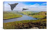 Vee Force over the Valley, Canvas Print