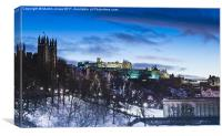 Winter comes to Edinburgh, Canvas Print