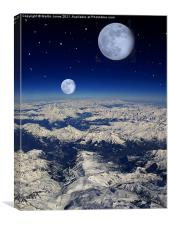 Extra Solar Planet from Orbit, Canvas Print