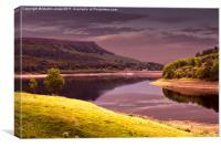 Ladybower Reservoir Reflections, Canvas Print