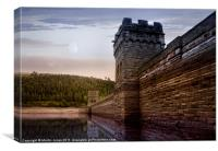 Sunset Behind the Mighty Dam, Canvas Print