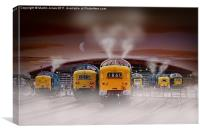 "Deltics -""Napiers in the Mist"", Canvas Print"