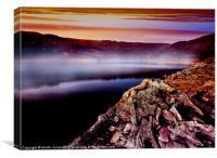Dawn Mist over the Bower, Canvas Print