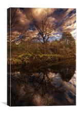 Blue Sky Reflections, Canvas Print