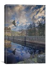 Vulcan over Howden, Canvas Print