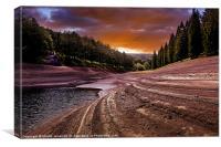 Sunset over Ouzeldon, Canvas Print