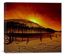 Chill Winter Comes to Howden, Canvas Print