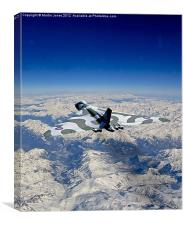 Vulcan over the Alps, Canvas Print