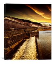 Dawn over Woodhead, Canvas Print