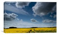 Cloudscape over South Yorkshire, Canvas Print