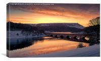 Sunrise over Ladybower, Canvas Print
