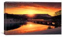 Sun Flare over Bamford Edge, Canvas Print