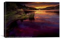 Reservoir Reflections, Canvas Print