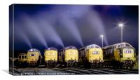 Deltic Smoke in the Night, Canvas Print