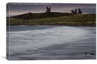 Dunstanburgh at Dusk, Canvas Print