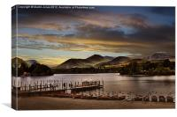 Evening Boat from Keswick, Canvas Print