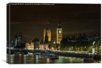 A Westminster Evening, Canvas Print
