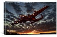 Avro Lancaster Sunset, Canvas Print