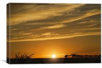 Sundown over Lumley Moor, Canvas Print