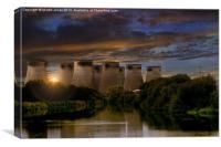 Ferrybridge Power Station Sunset, Canvas Print