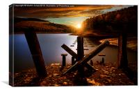 Pillars of Derwent Sunset, Canvas Print