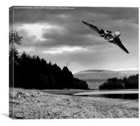 Vulcan over Derwent, Canvas Print