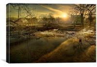 Linton Mill, Canvas Print