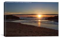 LLandwyn Island Sunset, Canvas Print