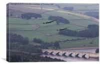 Lancasters in the Valley once Again, Canvas Print
