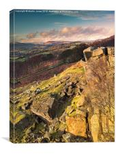 Over Hathersage from the Surprise View, Canvas Print
