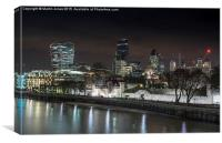 Tower of London City Skyline, Canvas Print