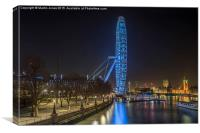 The London Eye and Westminster , Canvas Print