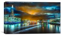Last Light over London's City Lights, Canvas Print