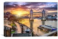 Dawn Over Tower Bridge, Canvas Print
