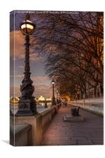 Evening on the Southbank at Lambeth Palace, Canvas Print
