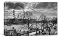 Embankment, Canvas Print
