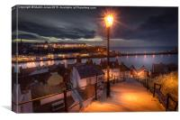 A Whitby Evening, Canvas Print