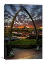 The Whalebones of Whitby, Canvas Print