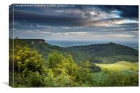 Roulston Scar from Sutton Bank, Canvas Print