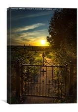 A South Yorkshire Sunset, Canvas Print