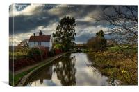 Tardebigge on the Birmingham and Worcester Canal, Canvas Print